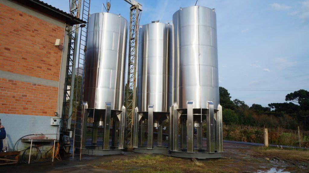 Tipos de tanques de aço inox